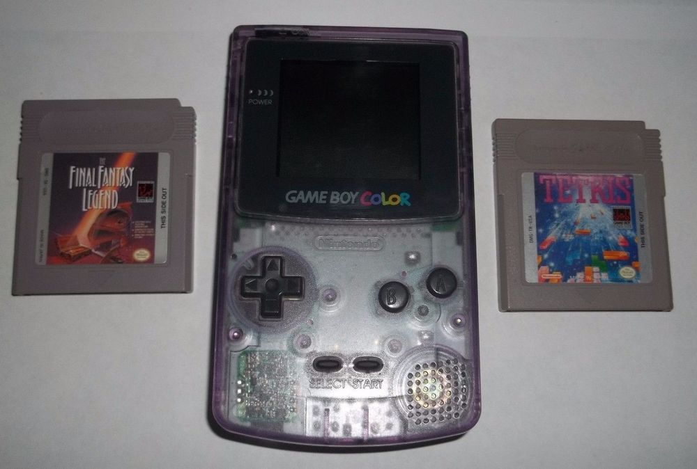Nintendo Game Boy Color Atomic Purple W Tetris Final Fantasy