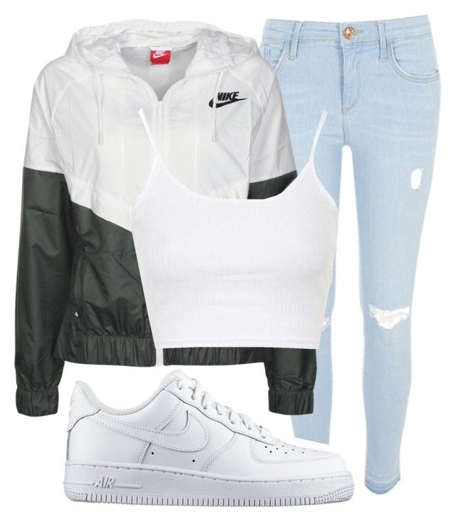 """""""Chill Bruh"""" by nasciaboo ❤ liked on Polyvore featuring River Island, NIKE and Topshop"""