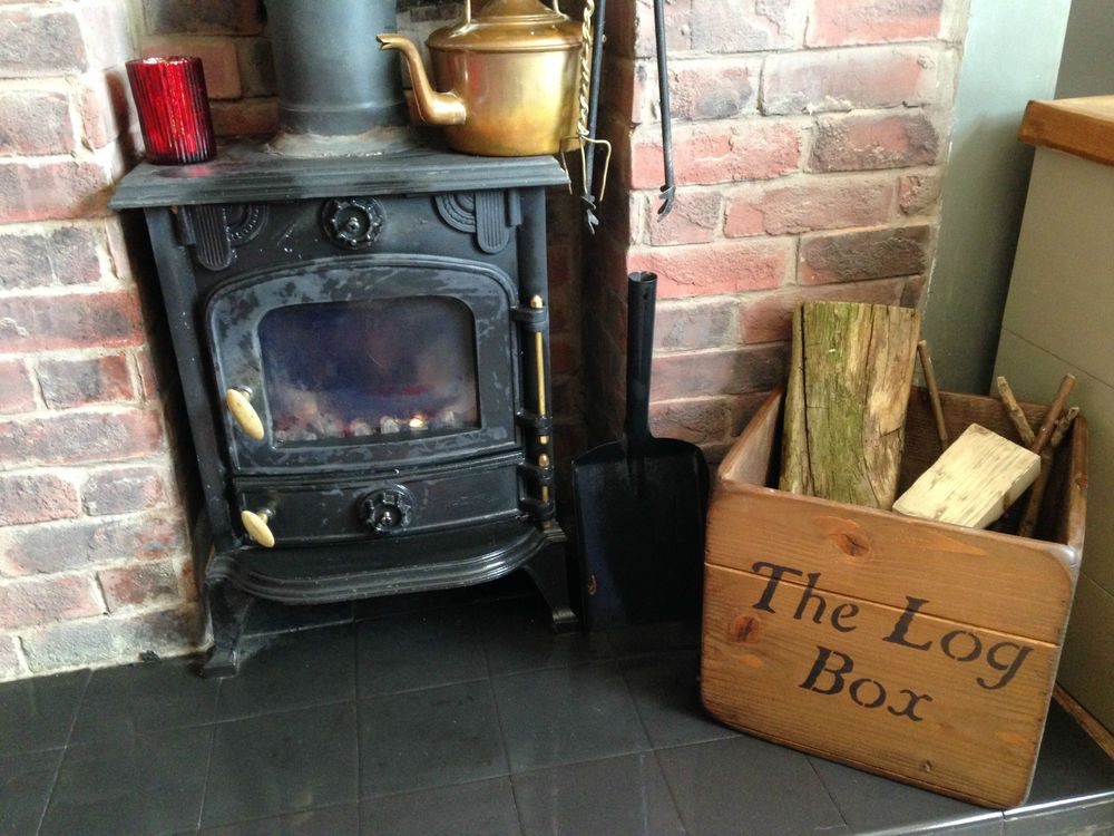 New Wooden Log Box Storing Wood Logs Fire Place Storage