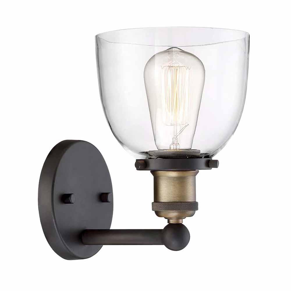 Home Decorators Collection Evelyn 1 Light Artisan Bronze Wall Sconce Hb15018 313 The Home Depot In 2020 Bronze Wall Sconce Sconces Wall Sconces