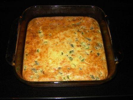 veggie quiche (more like pudding) using jiffy mix