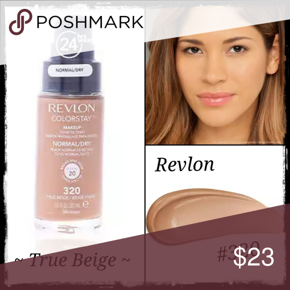 Revlon Colorstay Foundation True Beige Nwt Brand New Unopened Sealed Msrp 23 99 Color 320 True Beige Bundle For Extra Revlon Colorstay Colorstay Revlon