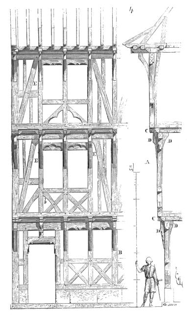 Pan de bois garage sheds pinterest pan de bois for Dictionnaire architecture et construction