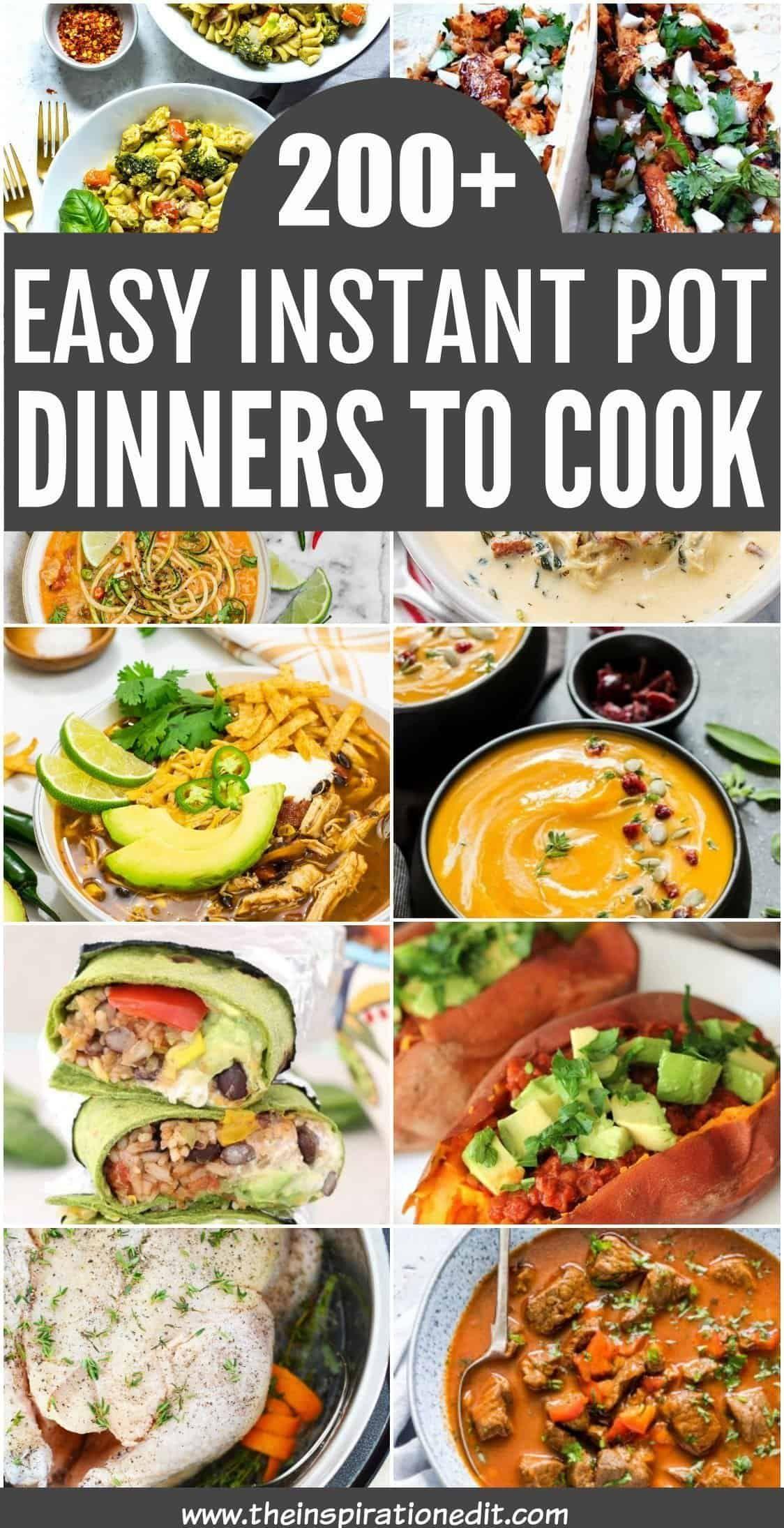 Easy Instant Pot Dinner Recipes Instant Pot Dinner Recipes