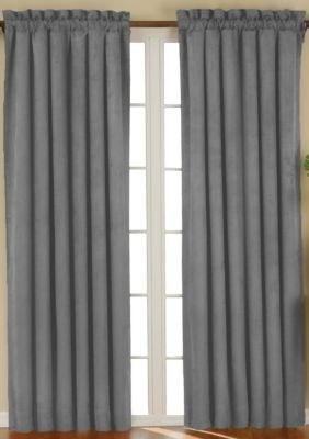 Eclipse Eclipse Suede Blkout Panel Charcoal Panel Curtains White Paneling Curtains
