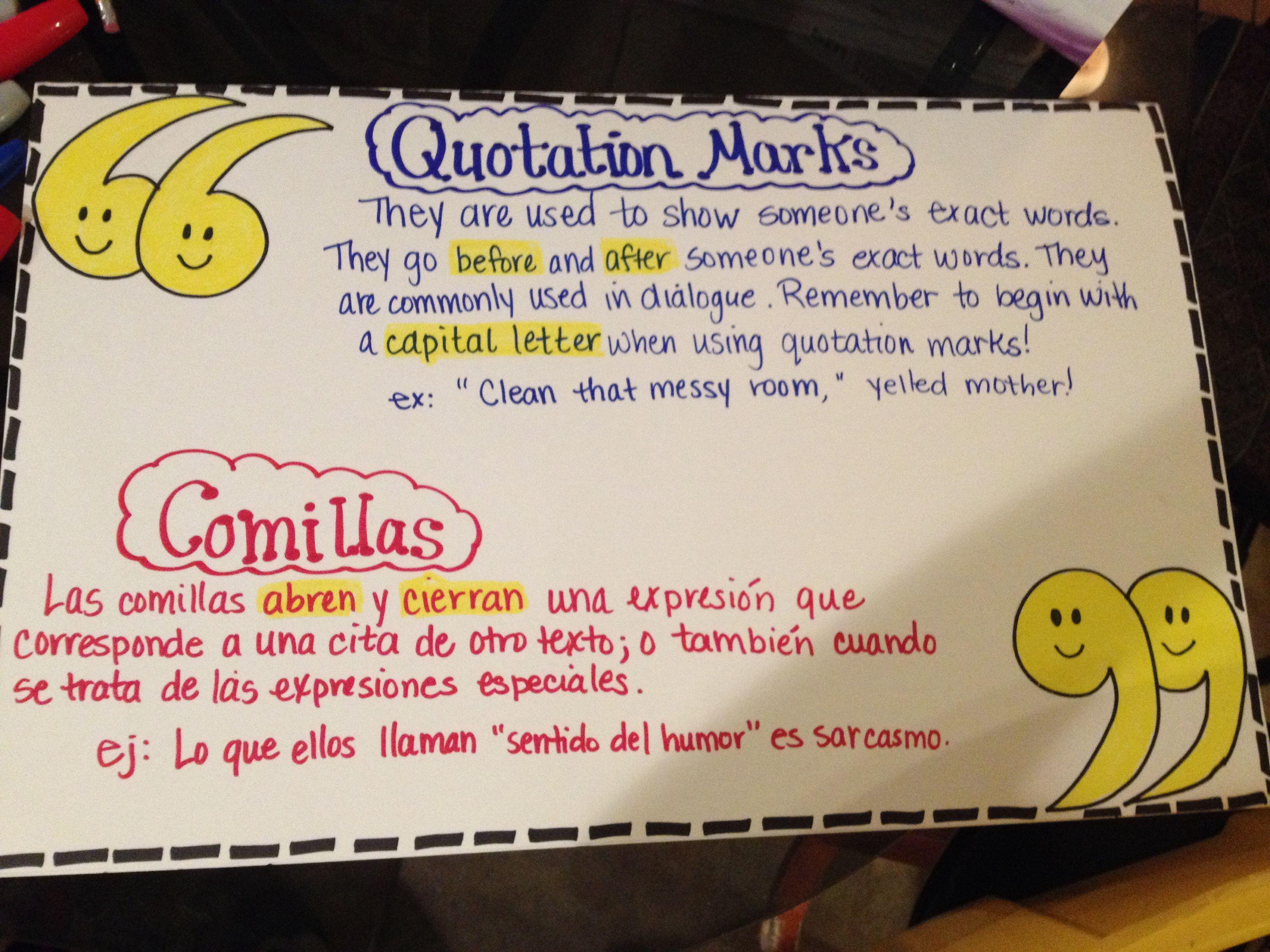 Quotation Marks Bilingual