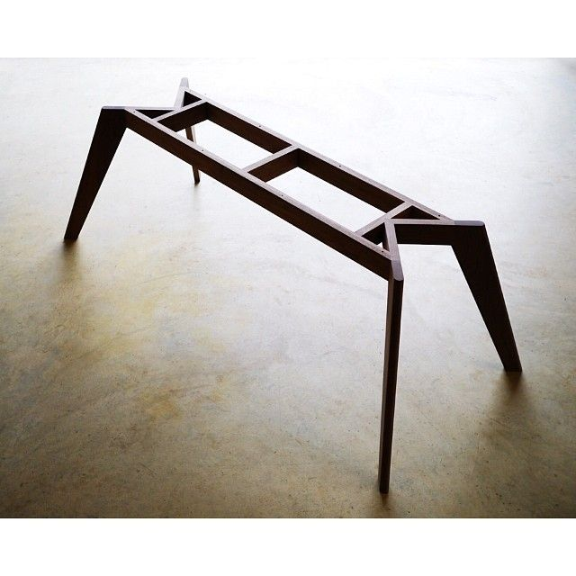 Vista St Dining Table Steel Dowel And Interlocking Joinery Give