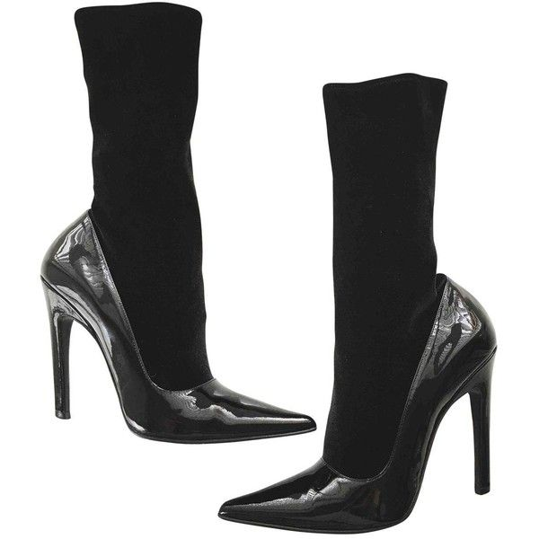 Ankle Leather Pre Owned Boots On Patent liked 650 Balenciaga CIqHt7qxw