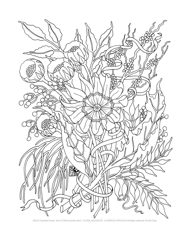 お花・植物編ぬりえ】大人の塗り絵・イラスト画像・リンク集 : 【お花