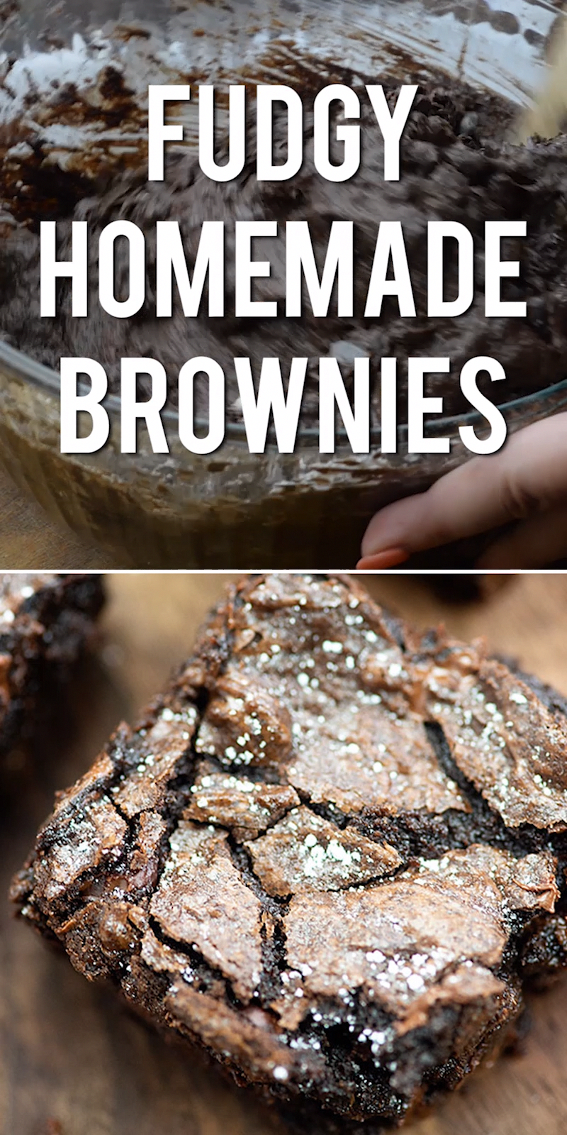 The BEST homemade brownies you'll ever make! They're so thick and fudgy!! #brownies #baking #dessert...