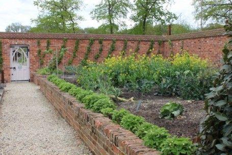 Walled Kitchen Garden Garden Wall Modern Garden Garden Unit