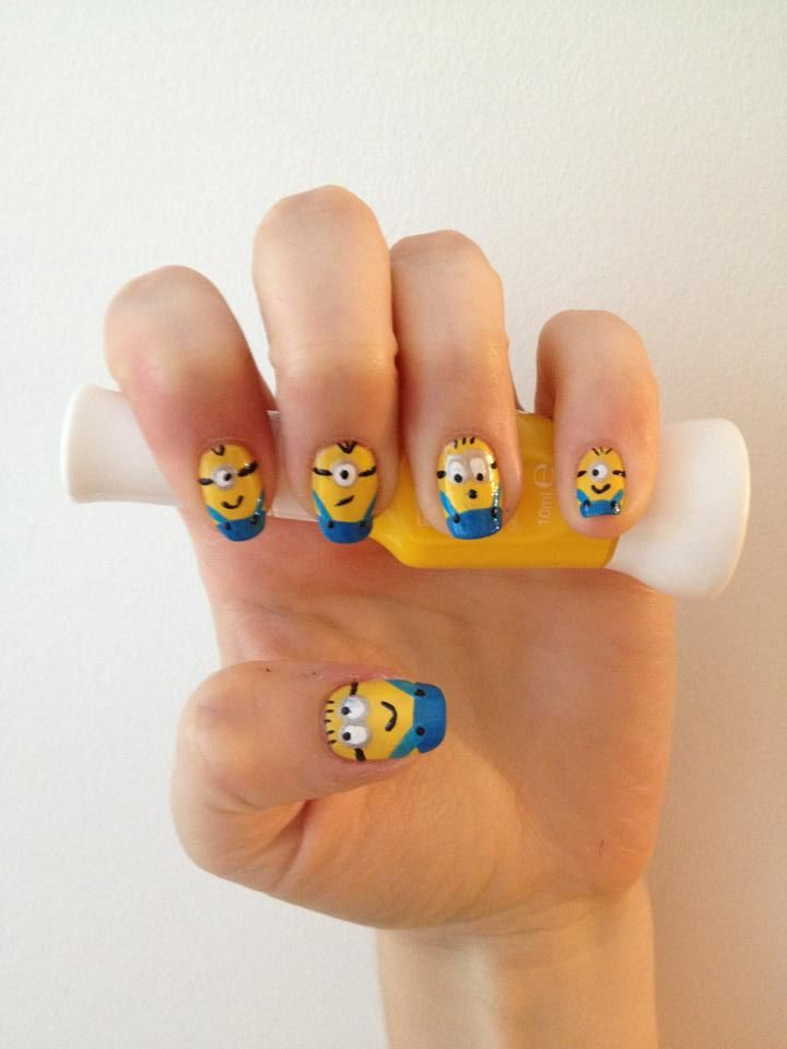 Despicable Me Minions Created By Kirsty Lavis Using Rio Nail Art