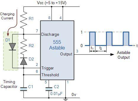 improved 555 oscillator duty cycle technology pinterest circuits rh pinterest com