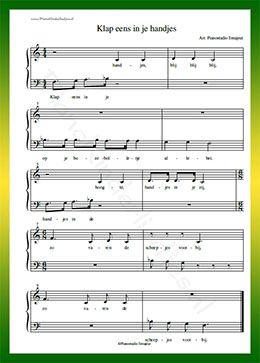 Hedendaags Klap eens in je handjes - Gratis bladmuziek van kinderliedjes in RG-44