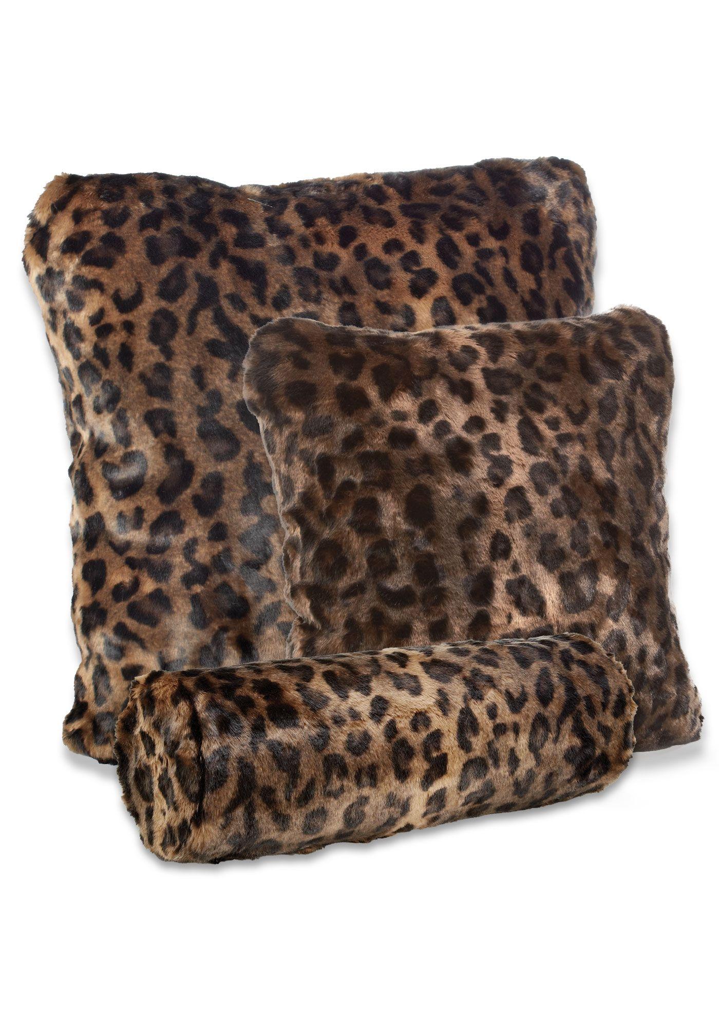 Faux Fur Pillows, Animal Print Faux Fur