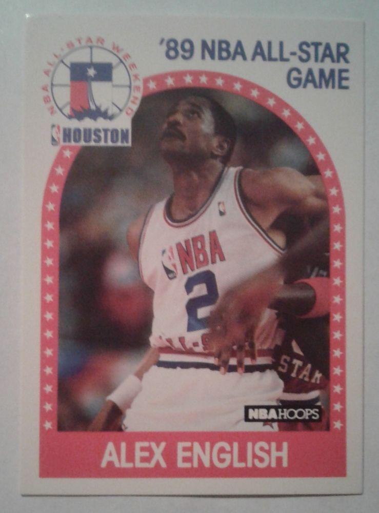 Alex english 1989 hoops nba allstar game card 133