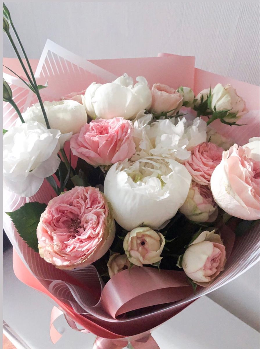 #flowers #flowerstagram #love #bouquet #estetica #pink #white #цветы #букетцветов #букет #любовь lovely flowers