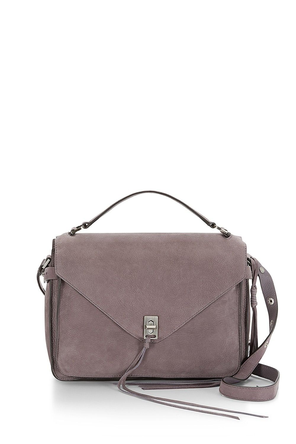 Darren Messenger Satchel - Ladylike gets some downtown cred. This bag has a flap that clicks shut, a front pocket for quick phone access, and strap options for toting or shouldering all decked out in supple, keeps-getting-better leather. 325.00 PALE LAVENDER