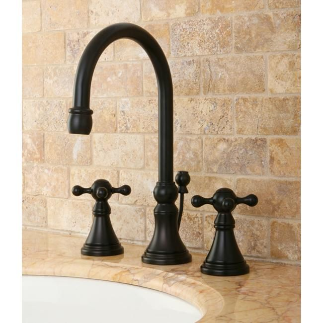 Kingston Brass Governor Widespread Oil Rubbed Bronze Bathroom Faucet - Dark bronze bathroom faucets