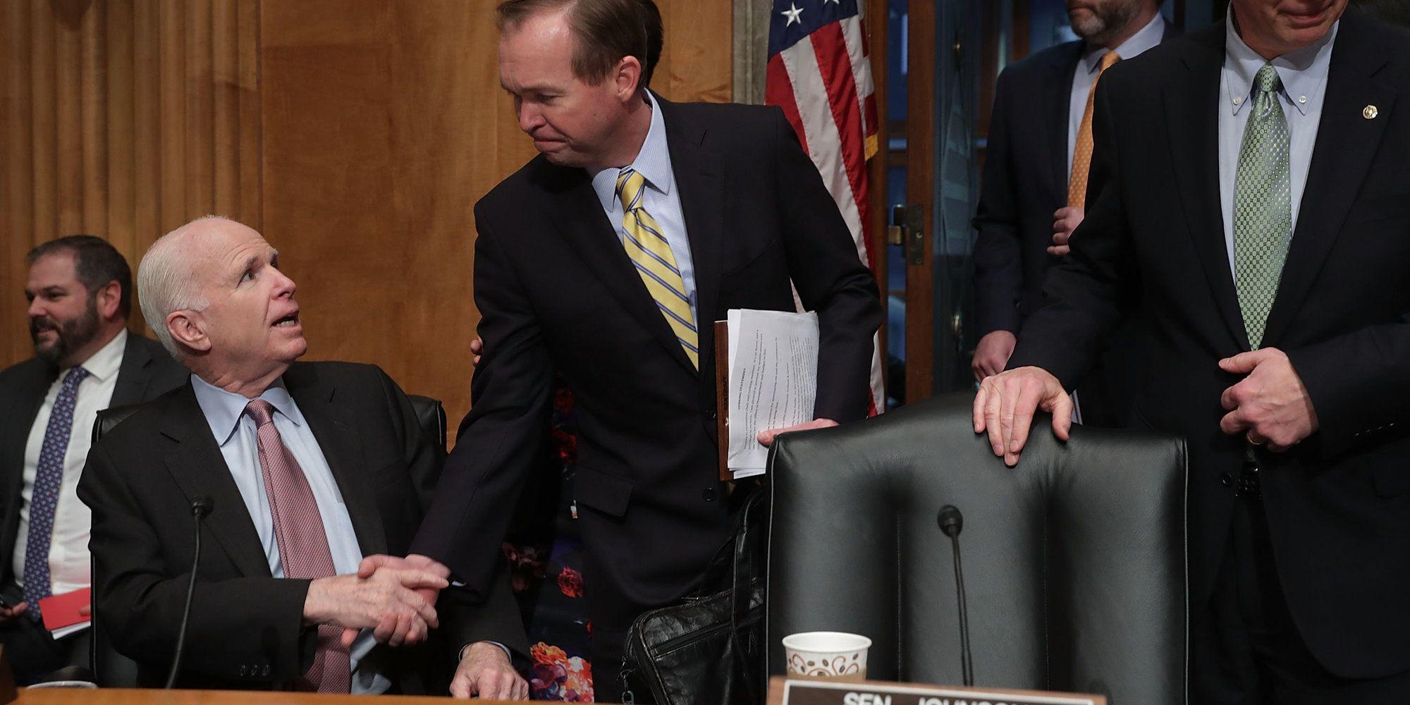 John McCain Scorches Trump OMB Pick For Defense Spending Cuts, Government Shutdown