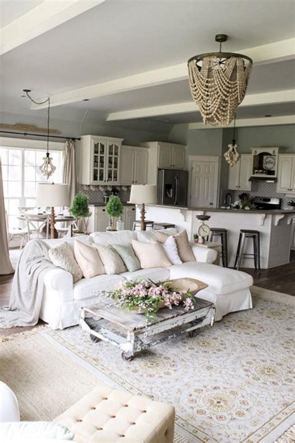 30 Best Shabby Chic Farmhouse Living Room Decor Ideas