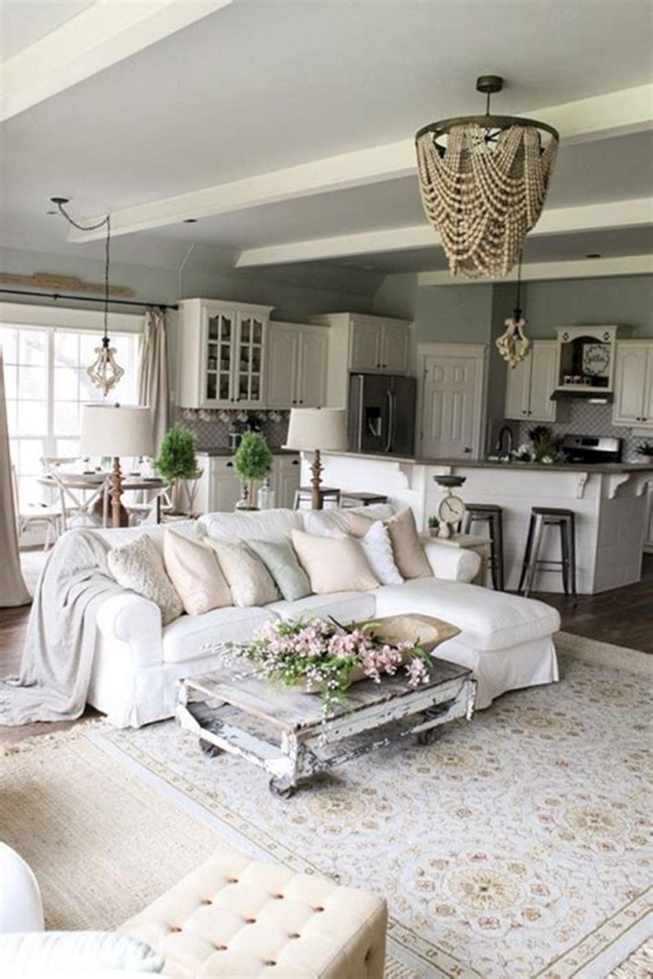 30 Best Shabby Chic Farmhouse Living Room Decor Ideas 2019
