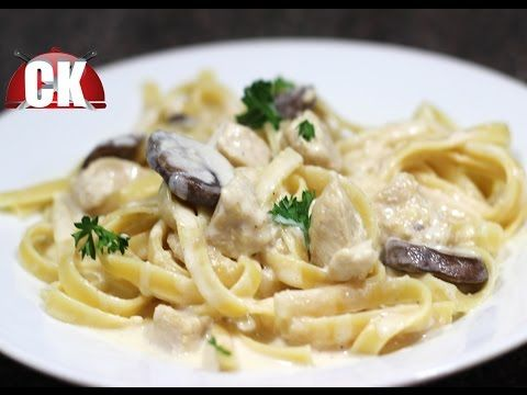 Fettuccine Alfredo with Chicken - Chef Kendra's Easy Cooking! - YouTube