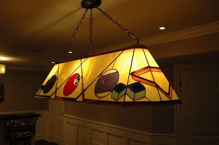 Custom Stained Glass Pool Table Lamp Glass Pool Pool Table