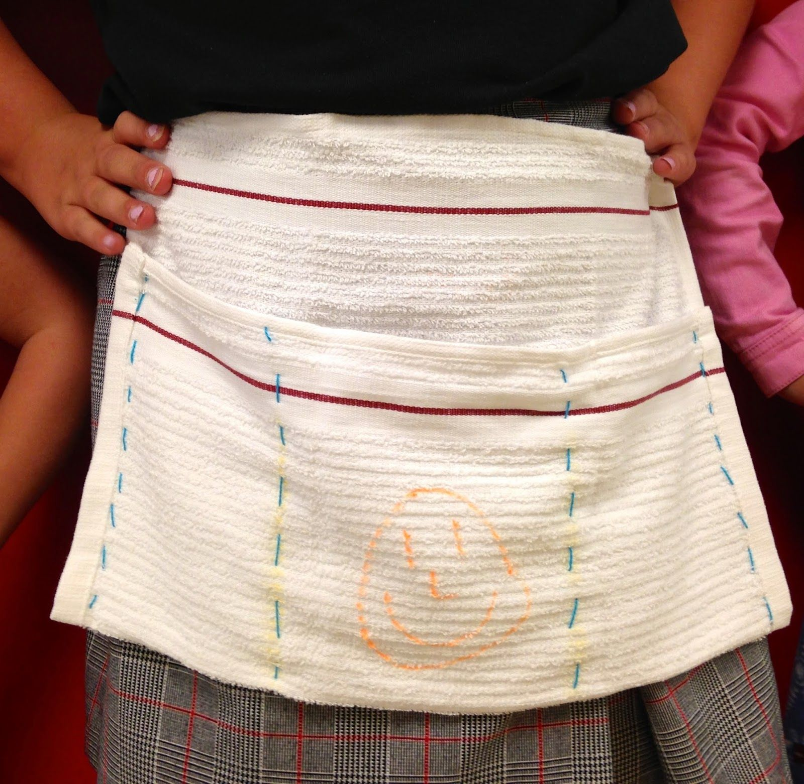 Hand Sew Aprons With Fabric Marker Decoration Maybe