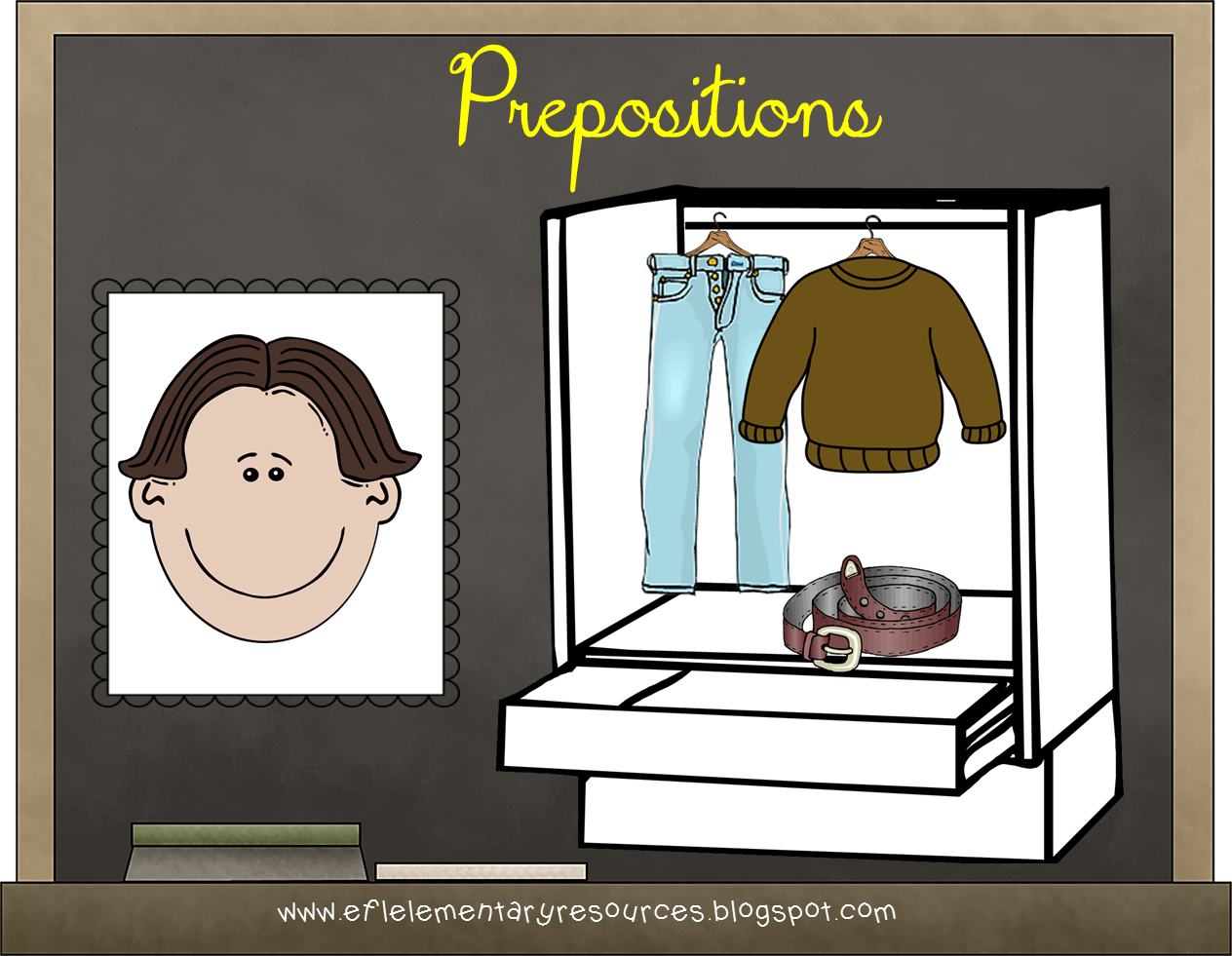 Esl Clothes And Positional Words Activity