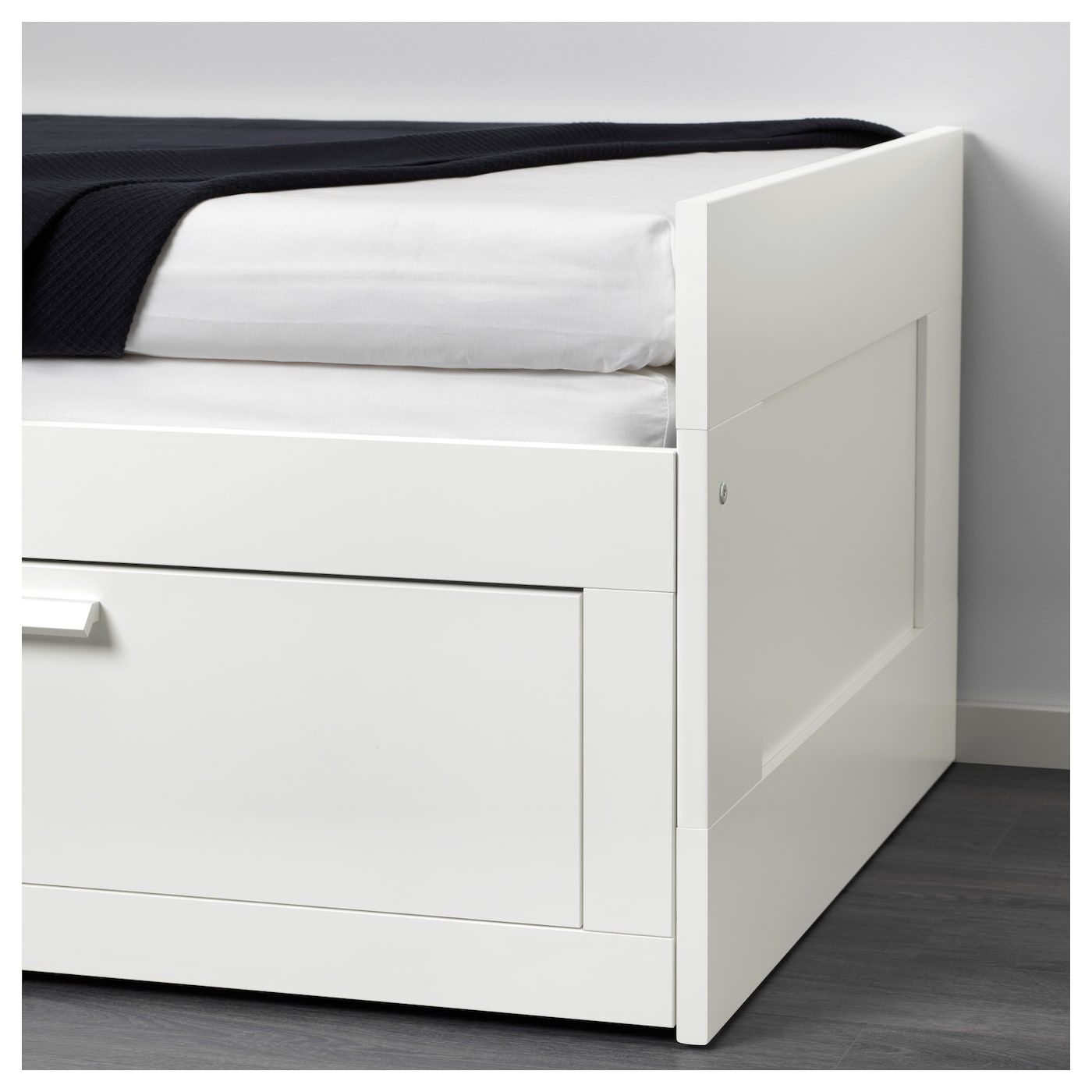 Brimnes Daybed Frame With 2 Drawers White Twin With Images Ikea Daybed Day Bed Frame