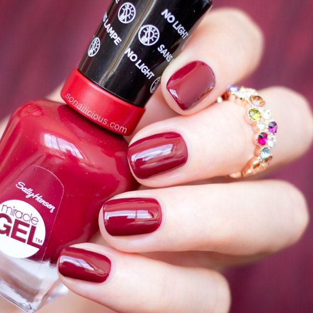 Baroque Nails with Sally Hansen Miracle Gel Dig Fig | Esmalte y Belleza