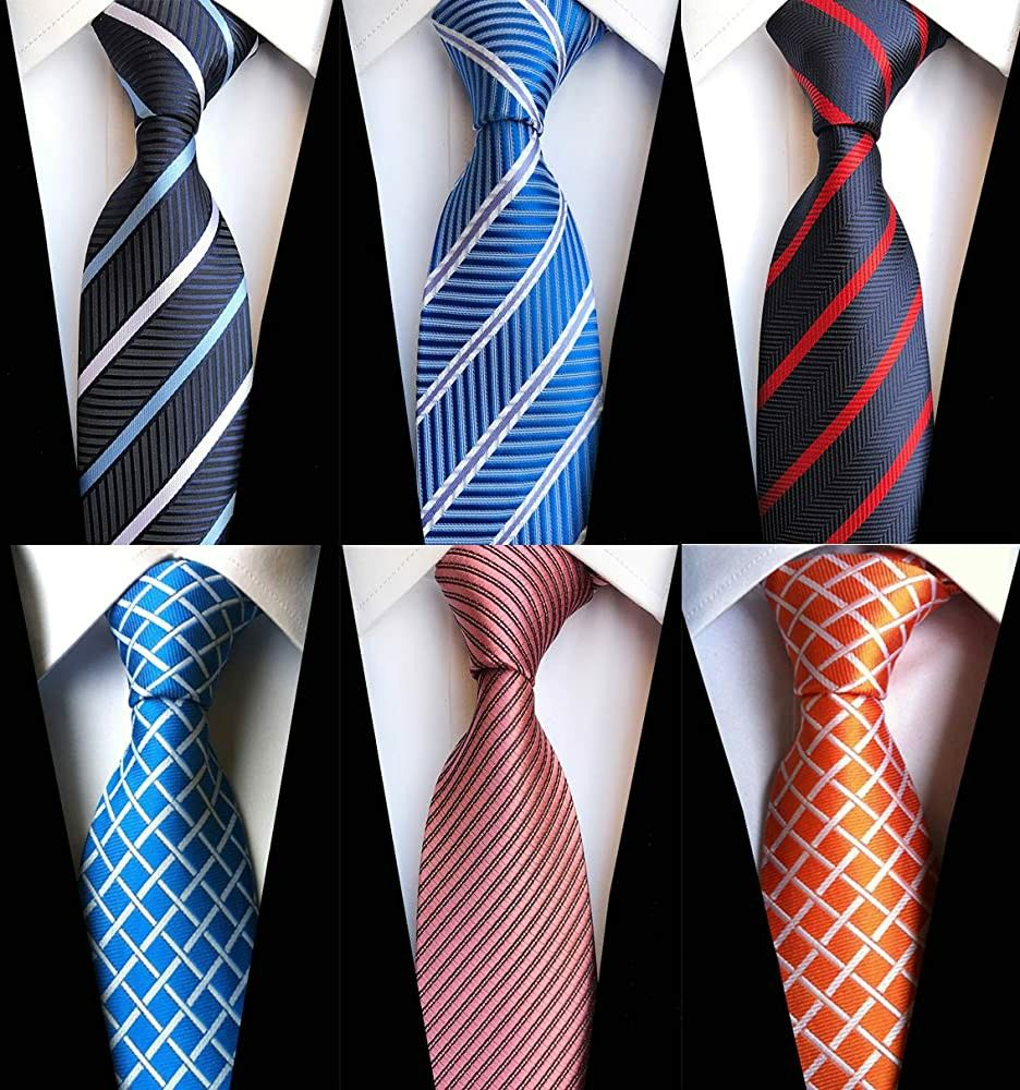 Solid Ties for Wedding|Party|Office|Gift 2.5 Inch Slim Tis Basic Color 4-Pack ZENXUS Solid Skinny Ties for Men