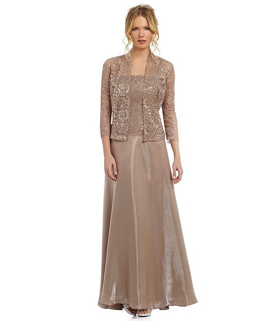 Emma Street 2-Piece Metallic Lace Jacket Dress | mother of the ...