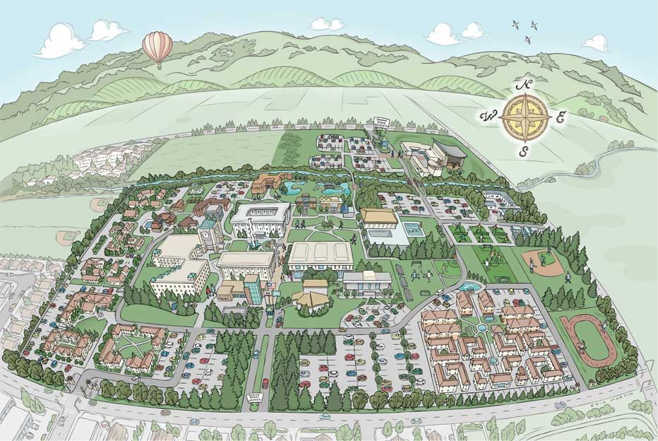 Map Of Sonoma State University Campus Click Each Link Or Use The