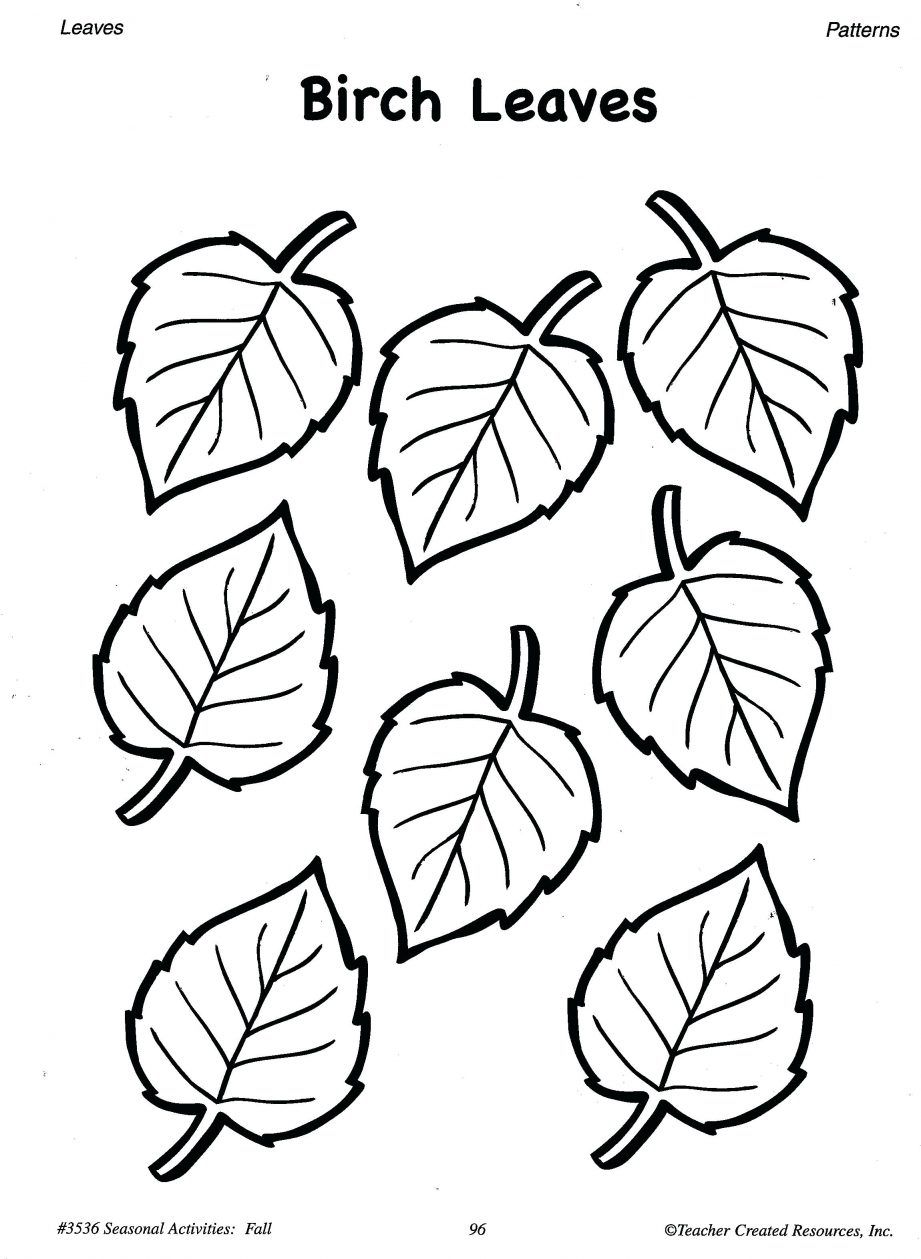 Coloring Pages Printable Fall Leaf Templates Pumpkin