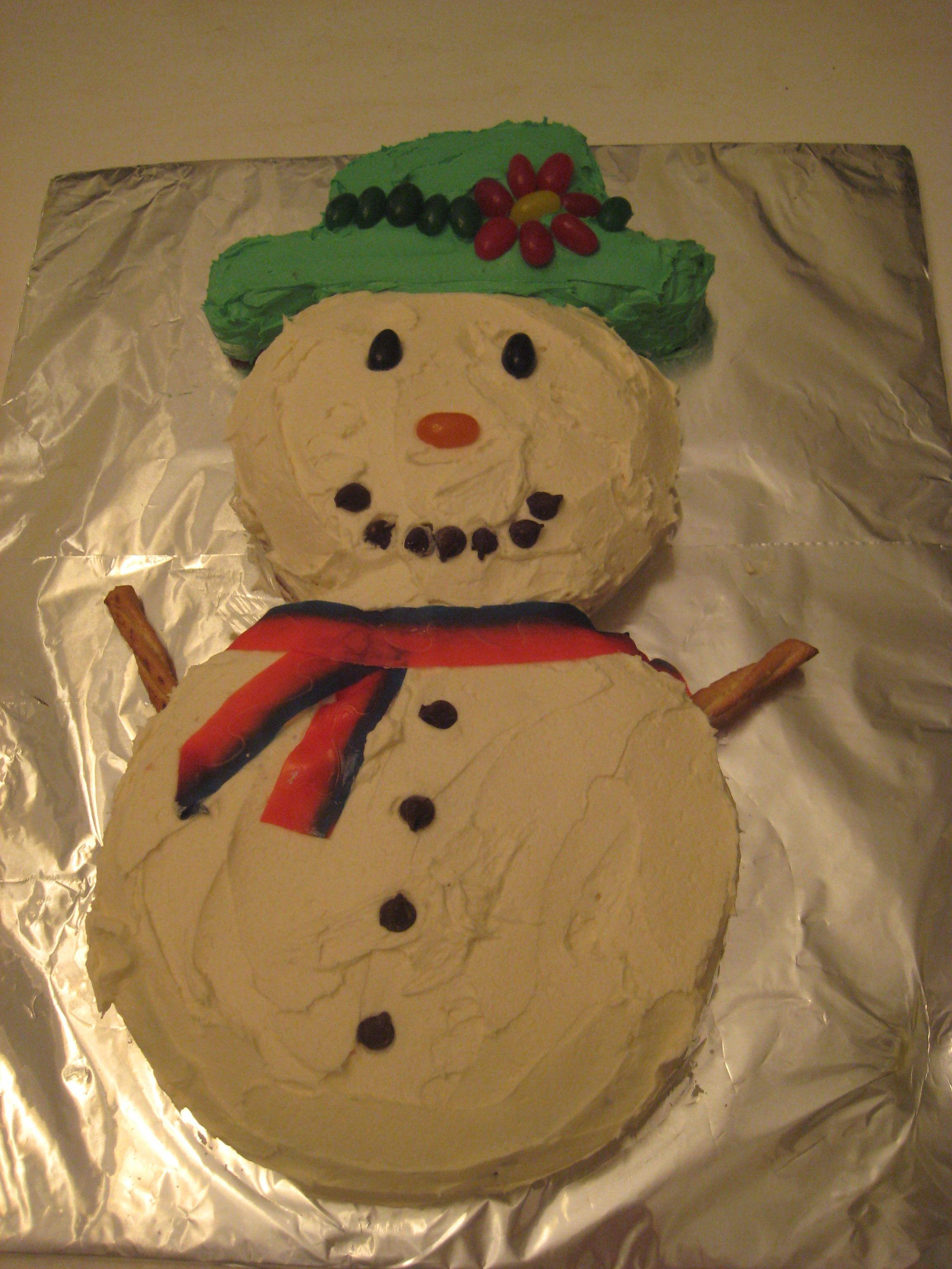 Fun and Easy Snowman Cake Recipe Snowman cake, Cake