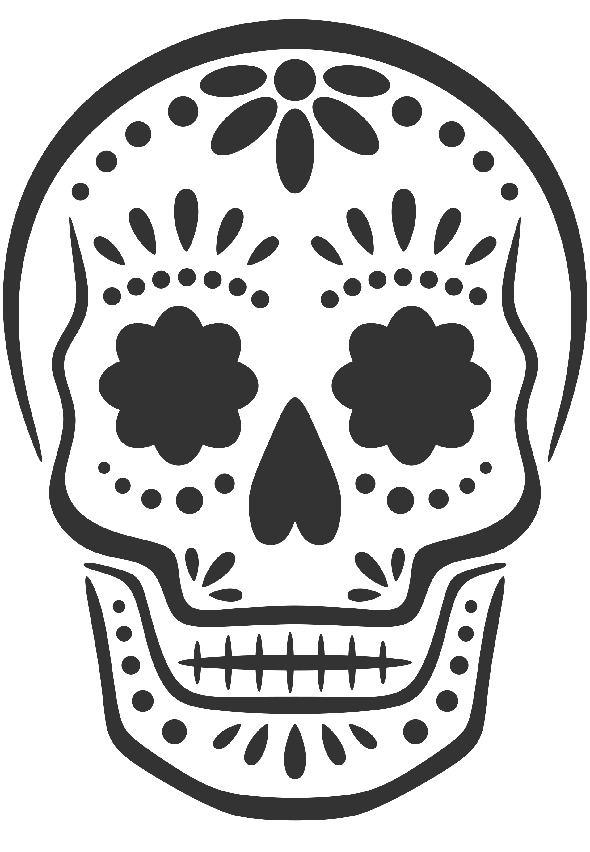 Sugar Skull Template Pin by Kayla Cooper on Halloween Decor Sugar skull