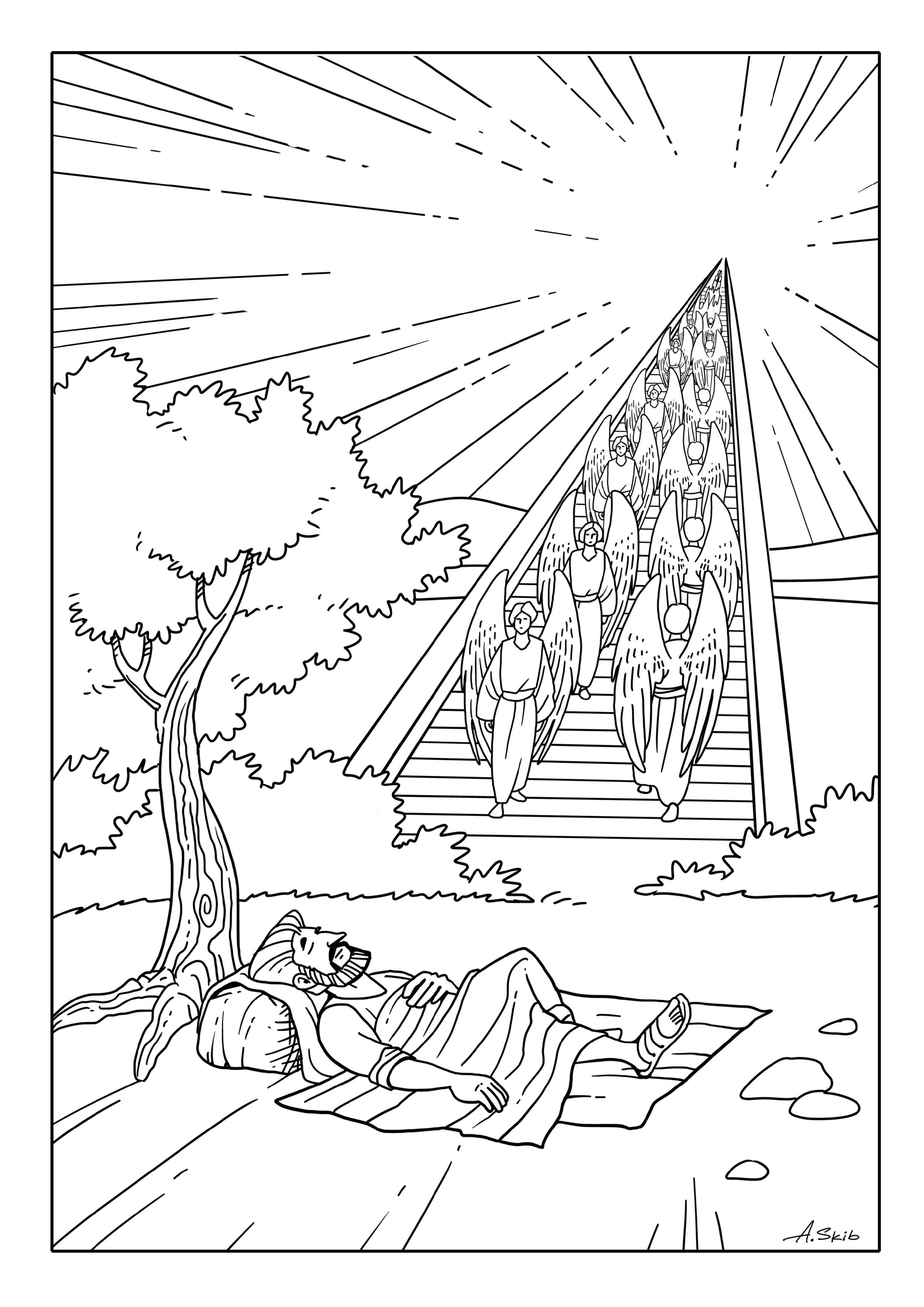 Jacob S Dream Sunday School Coloring Pages Sunday School Kids