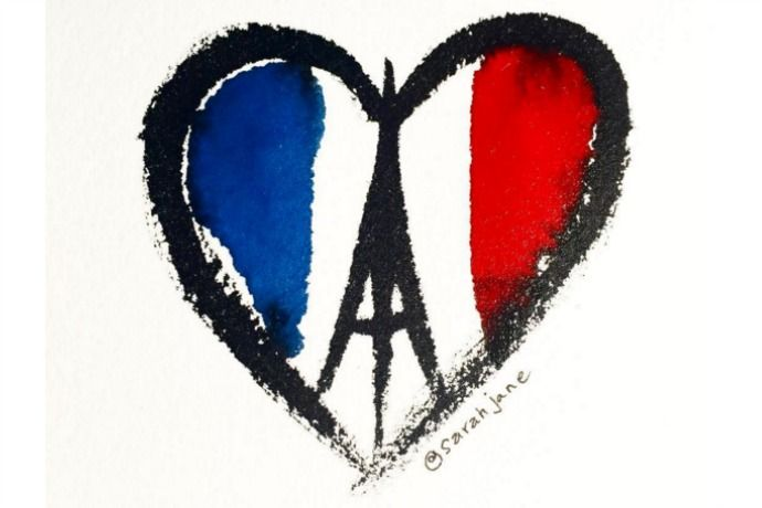 How to use tech to help the Paris terrorist attack | Image via SarahJaneStudios on Instagram