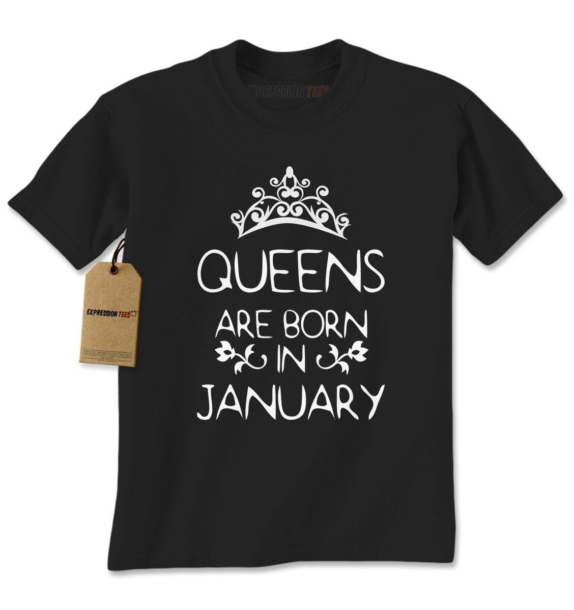 Queens Are Born In January Mens T-shirt
