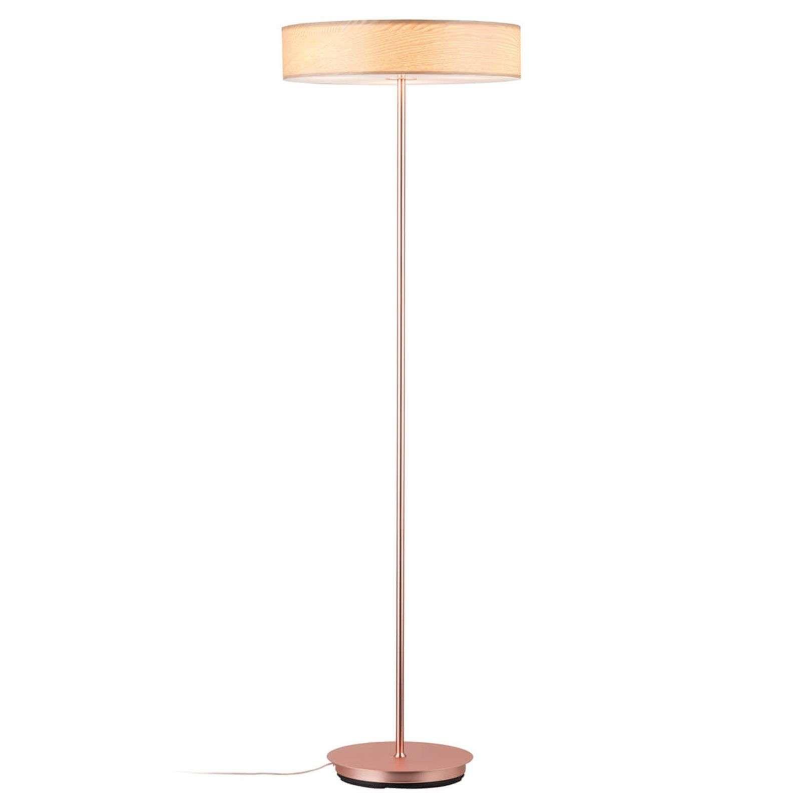 Decoratieve Vloerlamp Liska Met Houten Kap In 2020 Vloerlamp Moderne Lampen Koperen Lampen