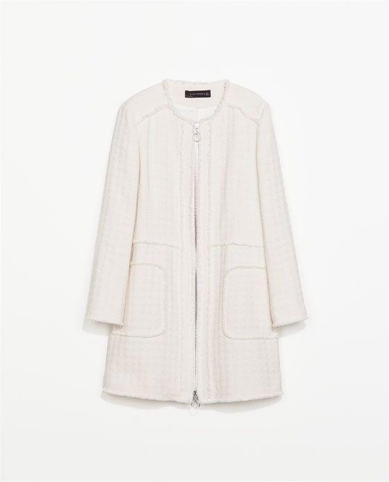 Cream coat from Zara  b9cbbae1f