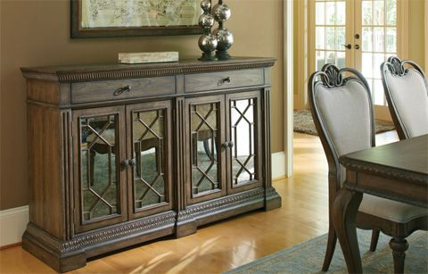 Image Of Credenza With Marble Inlay Legacy Classic Furniture