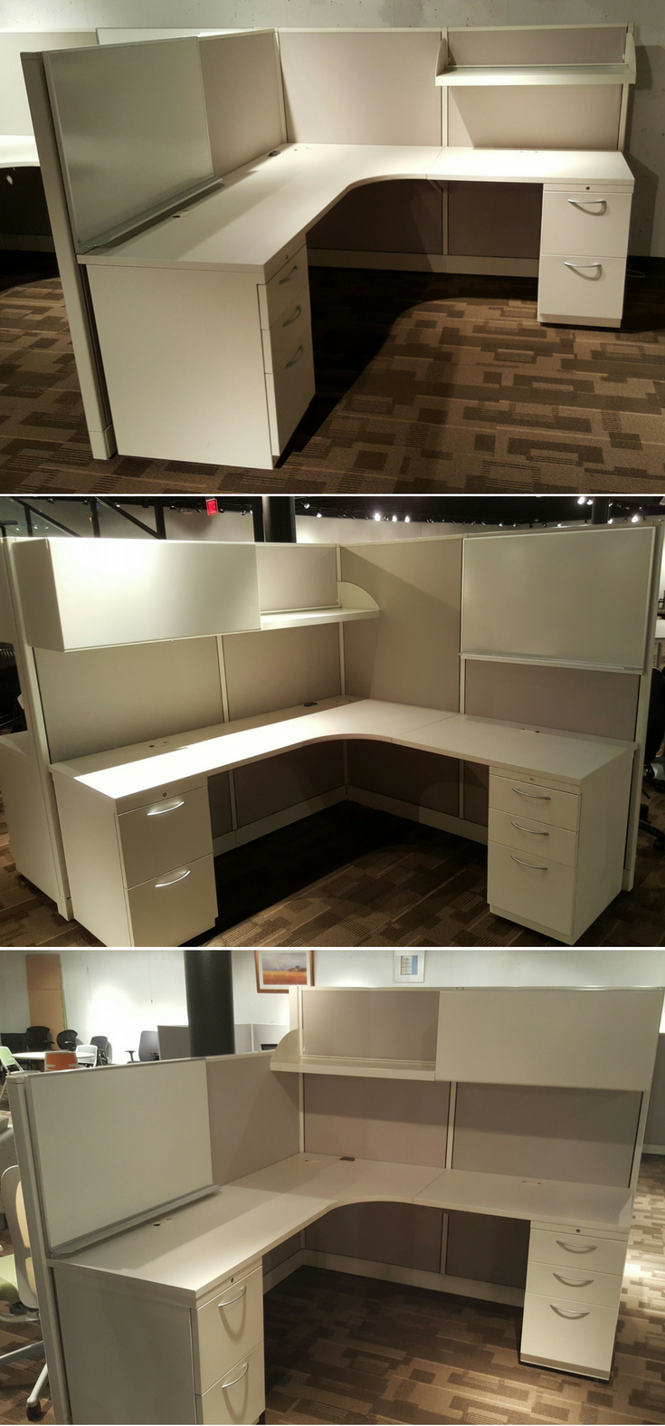 Used Cubicles In Kansas City. This Is The Same Allsteel Concensys Cubicle  Inventory Shown 3 Ways. The Size Of Each Cubicle Is 6 X 6.
