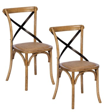 Lot De 2 Chaises Bistrot Gascogne 2 Chaise Bistrot Chaise