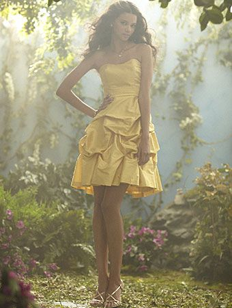 Alfred Angelo's line of Disney Maidens Bridesmaid's Collection 2012 ... Style 501 (Belle) - I kind of want to buy this dress for  myself too though