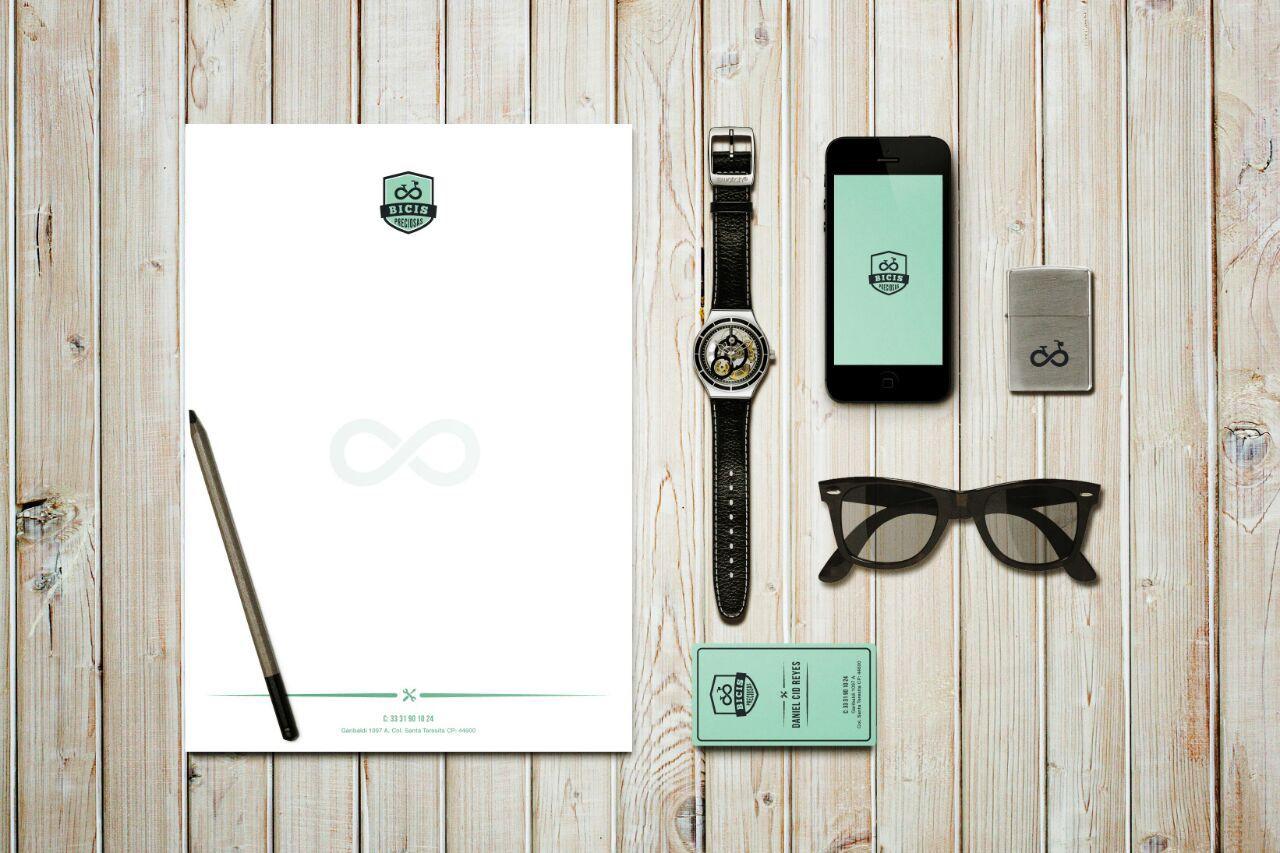 Diseño de imagen corporativa para Bicis Preciosas, cliente de GDL.  By www.fusioncreativa.mx