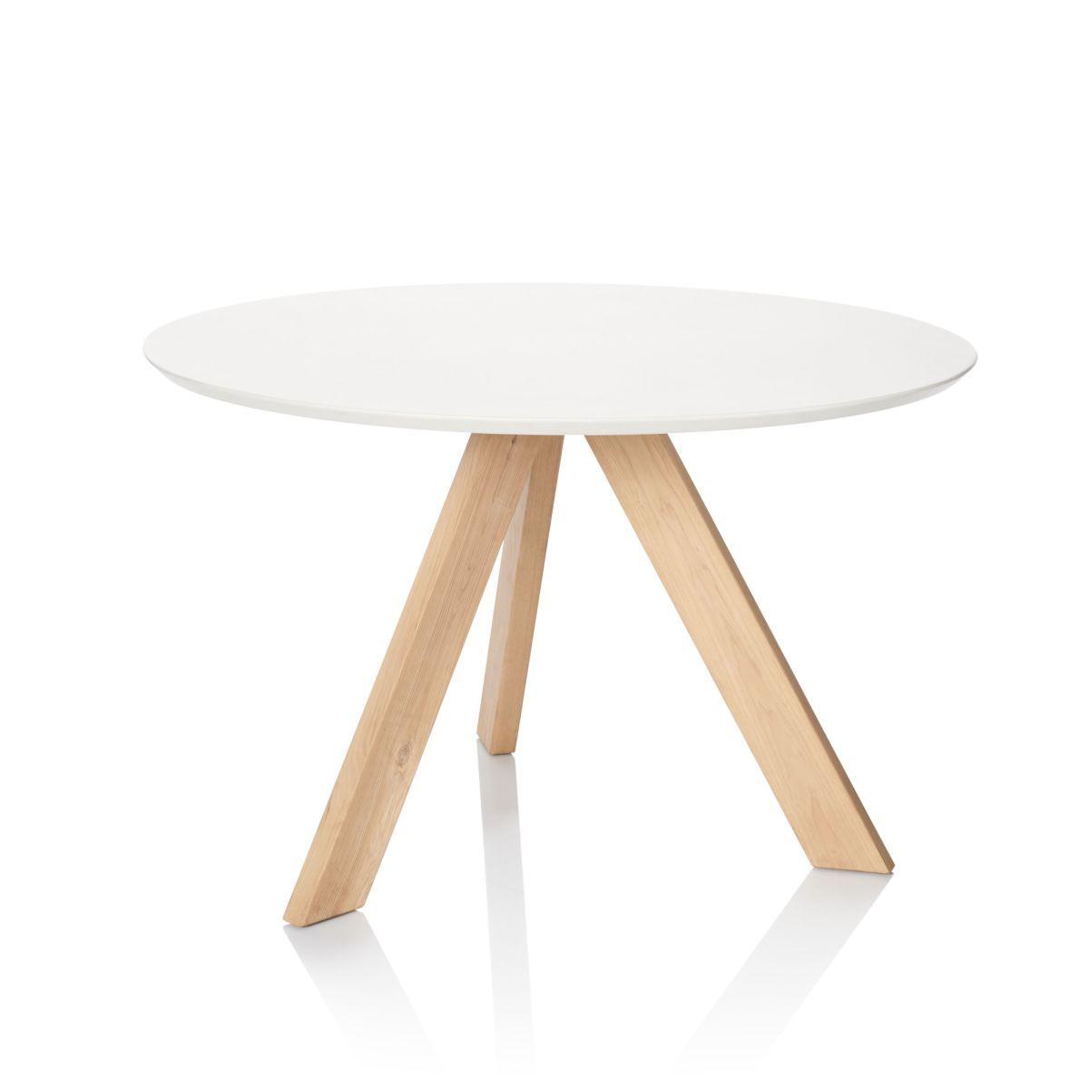 Esstisch Rund Skandinavischer Look Esstisch Tisch Und Esstisch Massivholz
