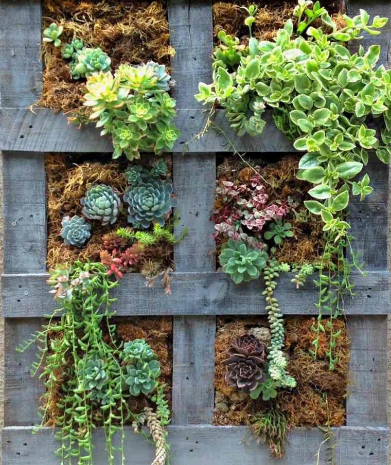 Jardini re en palette de bois pour jardin vertical ou - Comment faire un jardin vertical ...